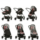 Hauck London All In One Travel System - Rainbow / Black