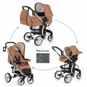 Hauck Malibu XL All In One Travel System - Toast / Black