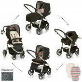 Hauck Lacrosse Shop n Drive Travel System - Stone