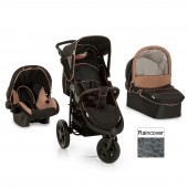 Hauck Viper Trio Set 3 in 1 Travel System - Caviar / Sand