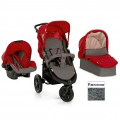 Hauck Viper Trio Set 3 in 1 Travel System - Charcoal / Red