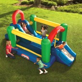 Little Tikes Double Jump N Slide Inflatable Bouncer