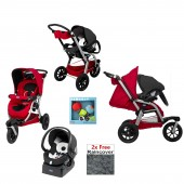 Chicco Activ3 3 Wheeler Travel System - Red Wave / Night