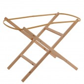Clair De Lune Folding Wooden Moses Basket Stand - Natural