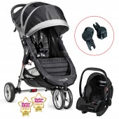 New Baby Jogger City Mini Travel System - Black