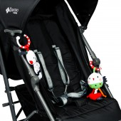 Red Kite Pushchair / Car Seat Clip On Toys - Cotton Tail