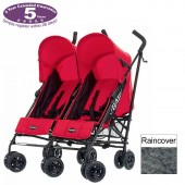 Obaby Apollo Twin Pushchair - Mars Black & Red