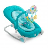 Chicco Balloon Baby Bouncer Rocking Chair With Sounds - Light Blue