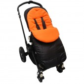 4Baby Shower Proof Fleece Pushchair Footmuff - Orange