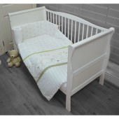4Baby 4 Piece Cot / Cotbed Bedding Set - Animal Friends Green