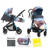Koochi Litestar 2in1 Pram / Pushchair - San Fran