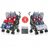 Cosatto Supa Dupa Twin Stroller - Cuddle Monster 2