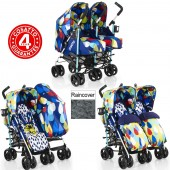 Cosatto To & Fro Twin Stroller - Pitter Patter