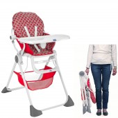 Chicco Luxury Pocket Lunch Baby Highchair - Red Wave