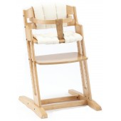 Babydan Danchair Wooden Highchair - Natural With Beige Cushion