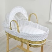 4baby Palm Moses Basket - Dimple White