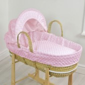 4baby Palm Moses Basket - Dimple Pink