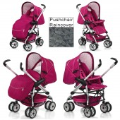 Hauck Eagle Pram / Pushchair - Trio Plum