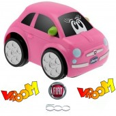 Chicco Turbo Touch Car - Fiat 500 Pink