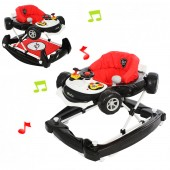 4Baby Car Baby Walker / Rocker - Black / Red