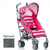 I'coo Pluto Pushchair Stroller - Pink Stripe