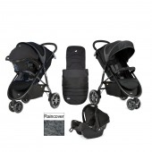 Joie Litetrax 3 Wheel Travel System - Midnight