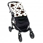Isabella Alicia Waterproof Fleece Pushchair Footmuff - Wild Cow