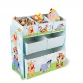 Delta Children Wooden Frame Multi-Bin Toy Organiser - Disney Winnie The Pooh