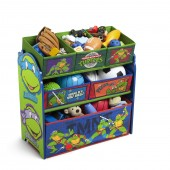 Delta Children Wooden Frame Multi-Bin Toy Organiser - Teenage Mutant Ninja Turtles