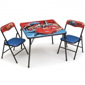 Delta Children Folding Table & Chairs Set - Disney Pixar Cars