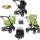 Obaby ZeZu Multi 3in1 Pramette Travel System - Lime