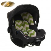 Obaby Group 0+ Infant Carrier Car Seat - ZigZag Lime
