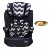 Obaby Group 123 High Back Booster Car Seat - ZigZag Navy