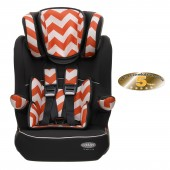 Obaby Group 123 High Back Booster Car Seat - ZigZag Orange