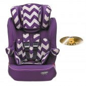 Obaby Group 123 High Back Booster Car Seat - ZigZag Purple