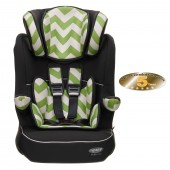 Obaby Group 123 High Back Booster Car Seat - ZigZag Lime