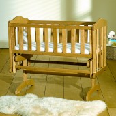 Saplings Wooden Glider Rocker Baby Crib - Country Pine