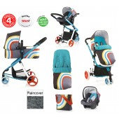 Cosatto Giggle Deluxe 2 Combi 3 in 1 Travel System - New Wave