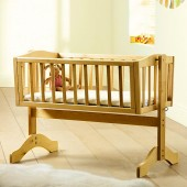 Saplings Bethany Swinging Crib With Mattress - Country Pine