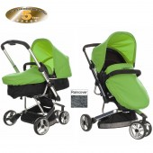 Obaby Chase 3 Wheel 2 in 1 Pramette - Black / Lime