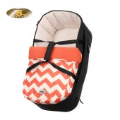 Obaby Zeal Carrycot - ZigZag Orange