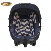 Obaby Group 0+ Zeal Infant Carrier Car Seat - ZigZag Navy