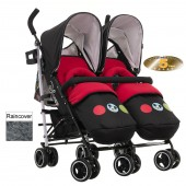 Obaby Disney Twin Stroller - Mickey Circles