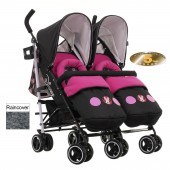 Obaby Disney Twin Stroller - Minnie Circles