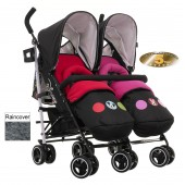 Obaby Disney Twin Stroller - Mickey / Minnie Circles