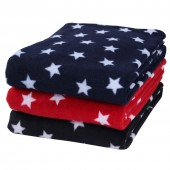 Clair De Lune Universal Star Fleece Pushchair / Pram / Moses Basket / Crib / Car Seat Blanket - Red