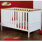 Obaby Newark Cot Bed - White (With Pine Trim)