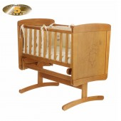 Obaby B Is For Bear Gliding Crib - Country Pine