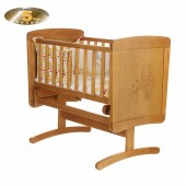 Obaby Disney Winnie The Pooh Gliding Crib - Country Pine