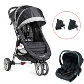 Baby Jogger City Mini Single Travel System - Black